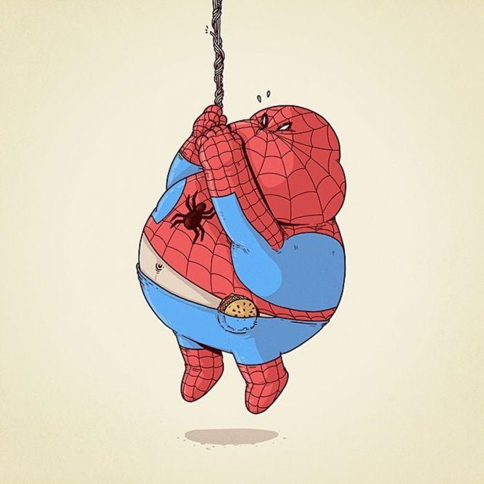 spiderman fat marvel comics cartoon movie wallpaper 1600x1600