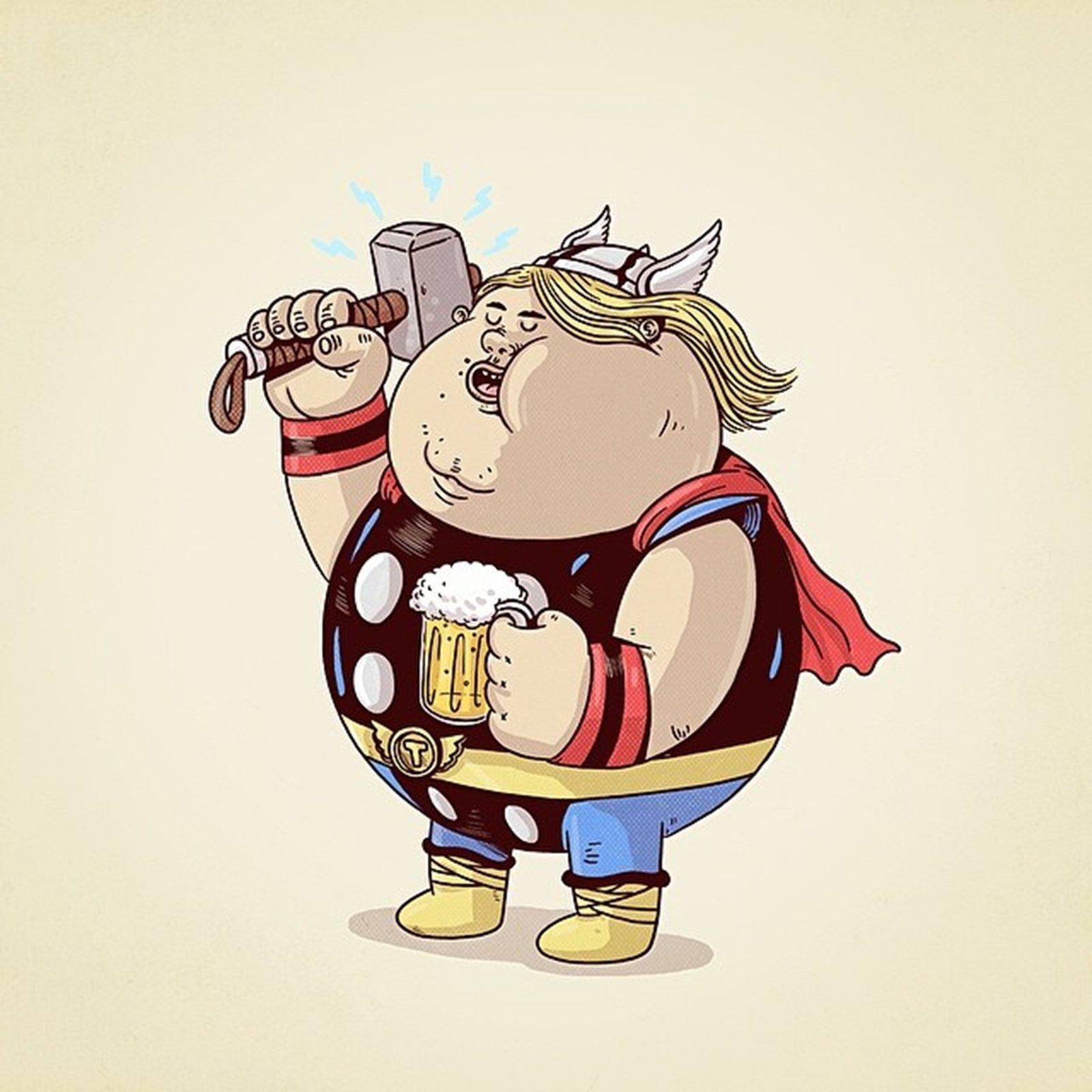 Thor Cartoon Wallpaper Thor Fat Marvel Comics Cartoon