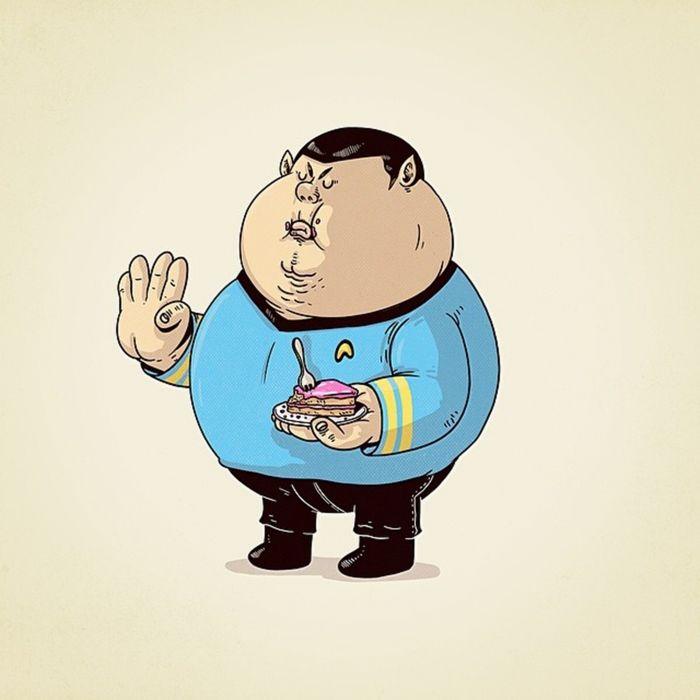 spock fat movie star-trek series 3000x3000 wallpaper