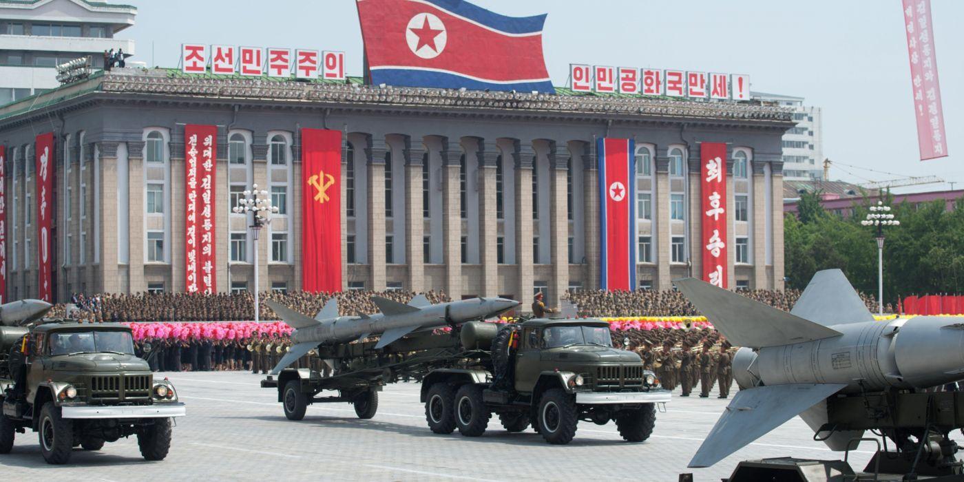 NORTH-KOREA ICBM misile wepons nuclear truck vehicle wallpaper