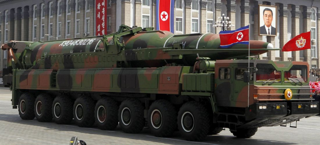 missile North-Korea vehicle truck military parade wepons (4) wallpaper