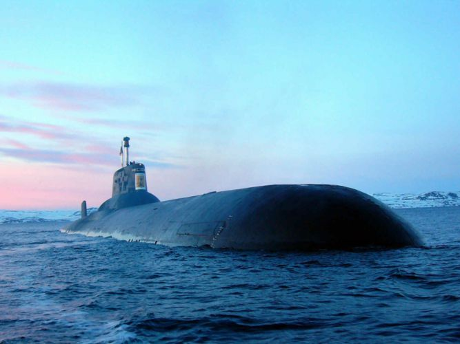 Russian Red Star Russia typhoon submarine warship navy ocean nuclear 4000x3000 wallpaper