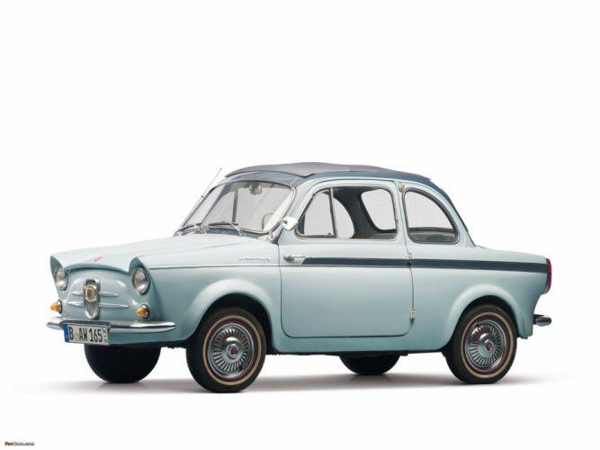 weinsberg fiat 500 limousette 1960 car vehicle retro classic 4000x3000 (1) wallpaper