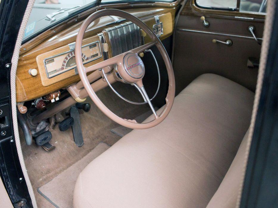 1940 Chevrolet Special DeLuxe 4-door Sport Sedan (KA-2103) interior   d wallpaper