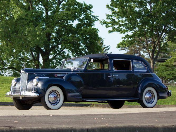 1941 Packard Custom Super Eight 180 All-Weather Town Car Rollston (1908-795) retro c wallpaper