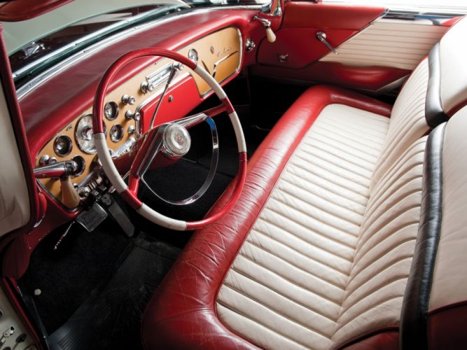 1955 Packard Caribbean Convertible Coupe (5580-5588) retro luxury interior f wallpaper