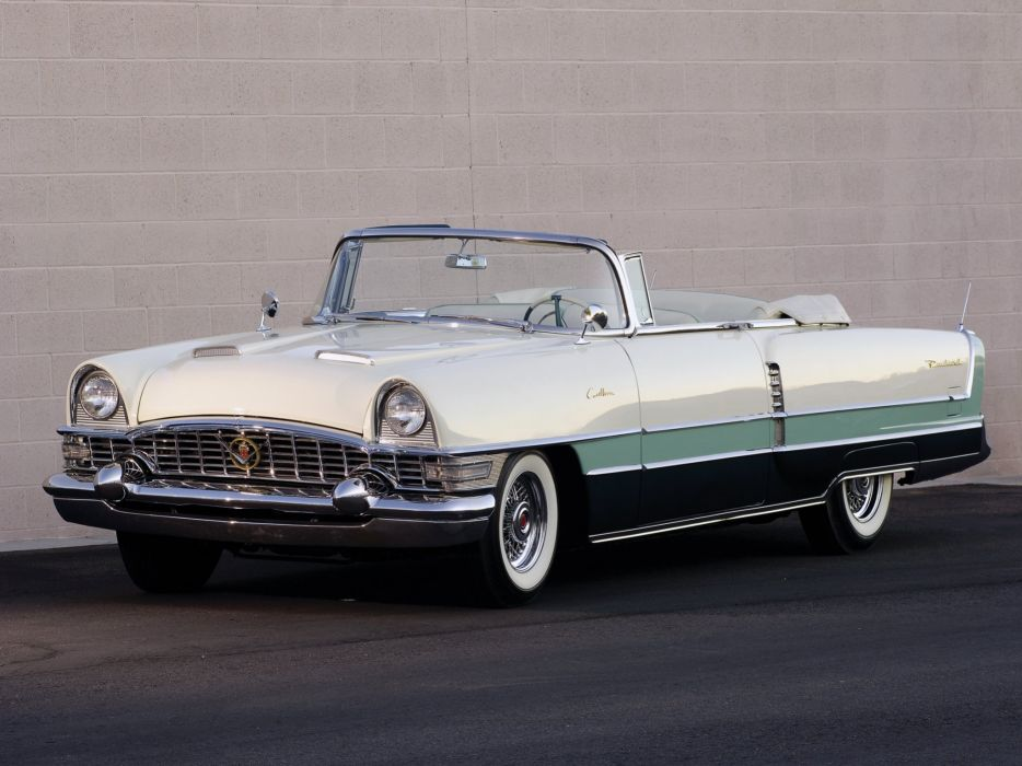 1955 Packard Caribbean Convertible Coupe (5580-5588) retro luxury w wallpaper