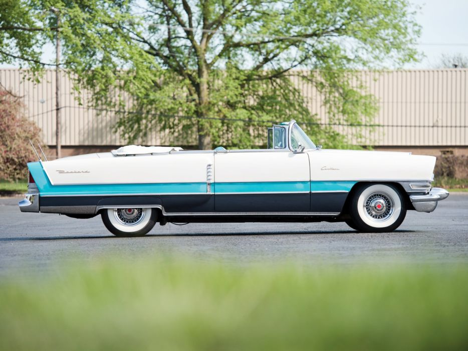 1955 Packard Caribbean Convertible Coupe (5580-5588) retro luxury  r wallpaper