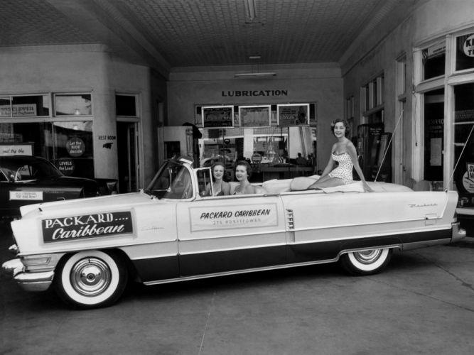 1955 Packard Caribbean Convertible Coupe (5580-5588) retro luxury e wallpaper