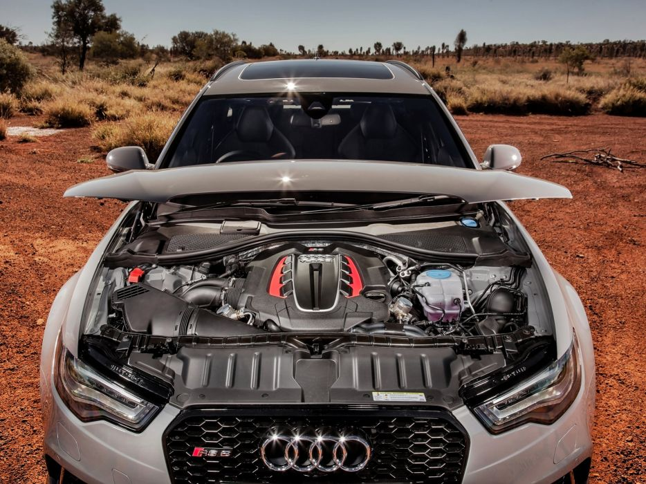 2013 Audi RS6 Avant AU-spec (4-G C-7) stationwagon engine   f wallpaper