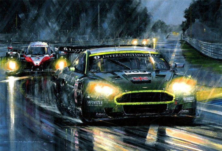 ASTON MARTIN DBR9 race racing gt1 le-mans (14) wallpaper