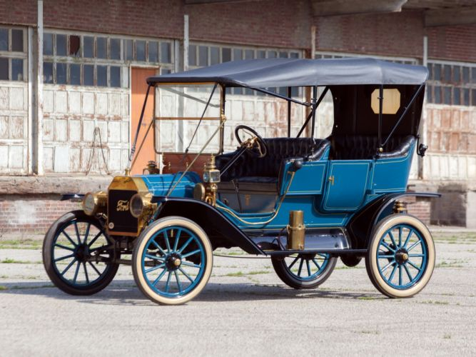 1911 Ford Model-T Touring retro g wallpaper