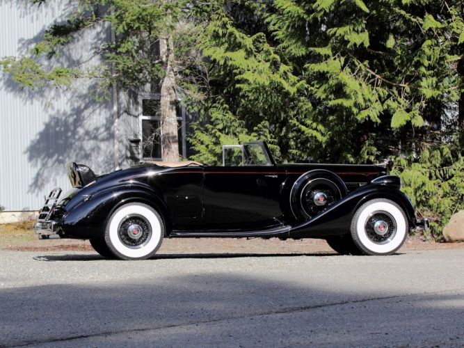 1936 Packard Eight Coupe Roadster (1402-919) convertible luxury retro g wallpaper