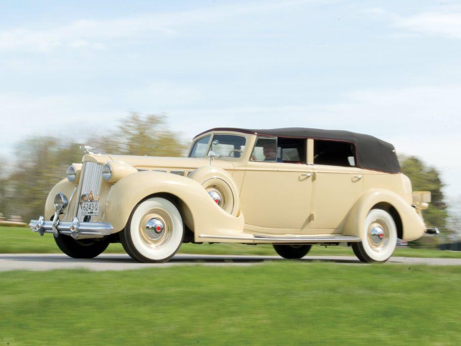 1938 Packard Super Eight Convertible Sedan (1605-1143) luxury retro  d wallpaper