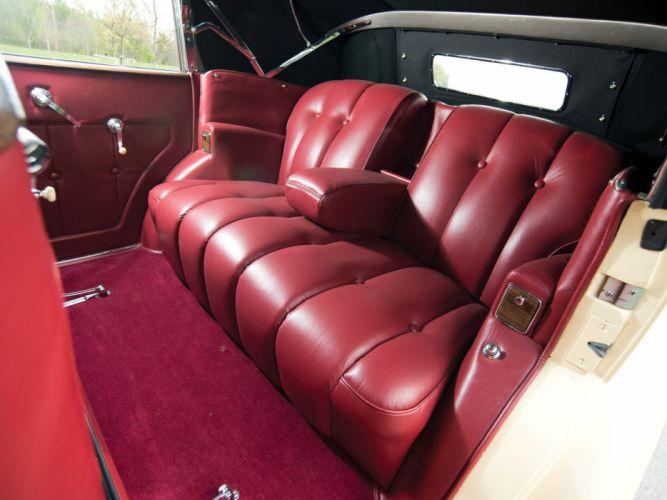 1938 Packard Super Eight Convertible Sedan (1605-1143) luxury retro interior d wallpaper