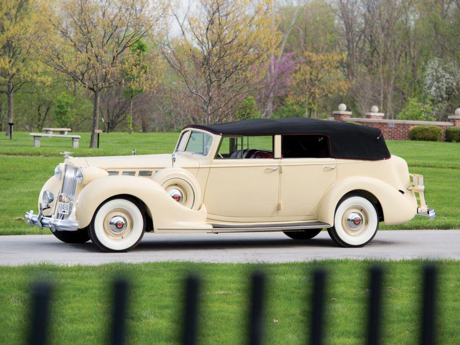 1938 Packard Super Eight Convertible Sedan (1605-1143) luxury retro  e wallpaper