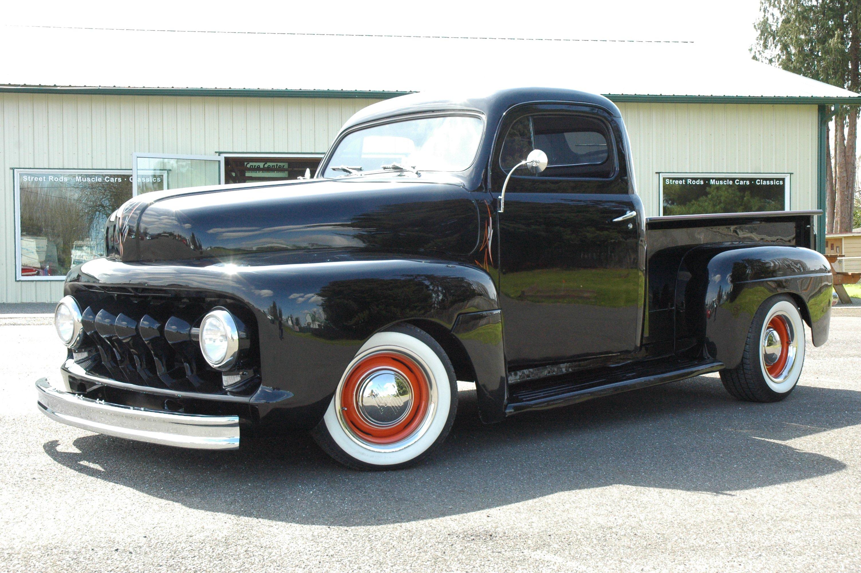 1951 Ford F100 pickup retro f-1 hot rod rods retro e_JPG wallpaper   3008x2000   371022 ...