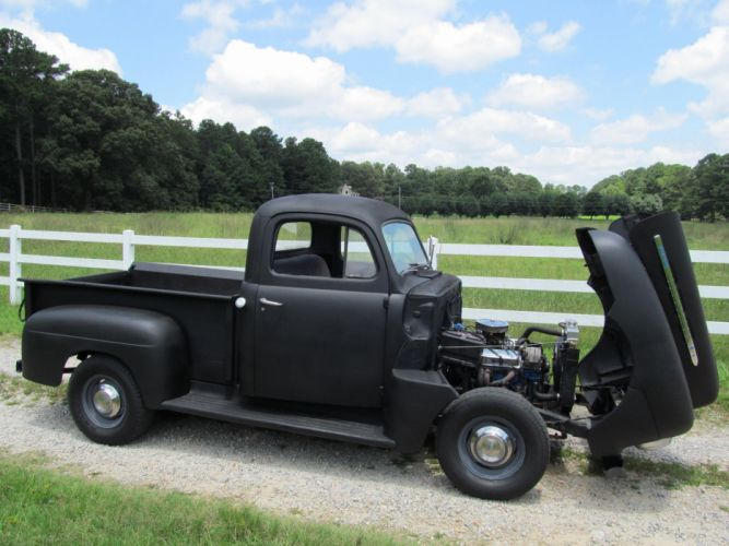 1951 Ford F100 pickup retro f-1 hot rod rods retro et wallpaper