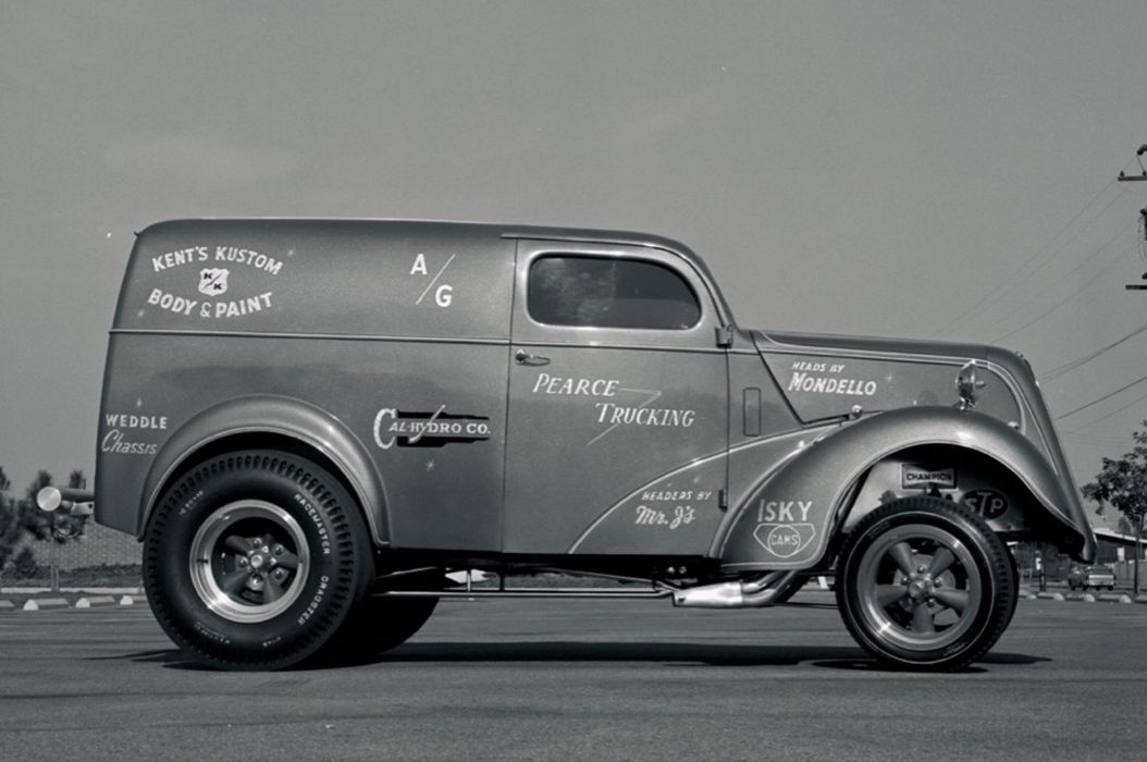 1953 English Ford Thames panel truck drag racing race hot rod rods gasser   f wallpaper