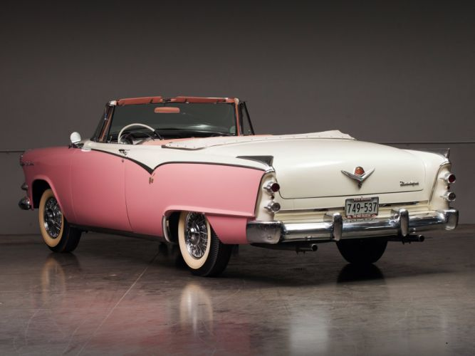 1955 Dodge Custom Royal Lancer Convertible retro luxury d wallpaper
