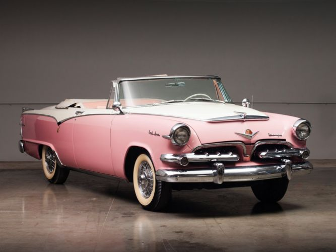 1955 Dodge Custom Royal Lancer Convertible retro luxury f wallpaper