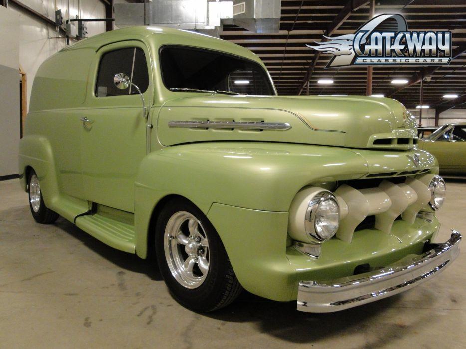 ford panel truck fr100 stationwagon van retro hot rods rod retro classic    h wallpaper