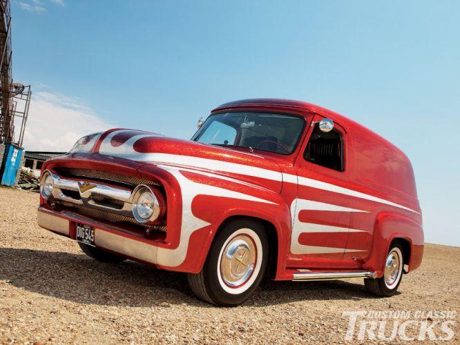 ford panel truck fr100 stationwagon van retro hot rods rod retro classic hw wallpaper