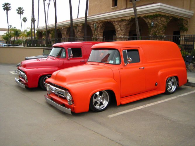 ford panel truck fr100 stationwagon van retro hot rods rod retro classic r wallpaper