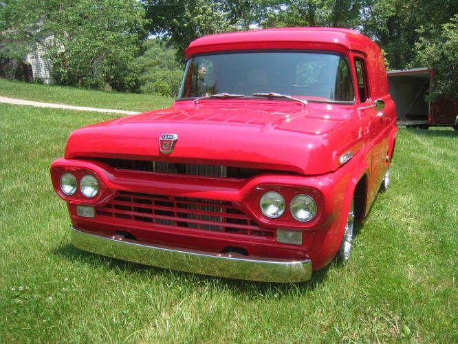 ford panel truck fr100 stationwagon van retro hot rods rod retro classic re wallpaper