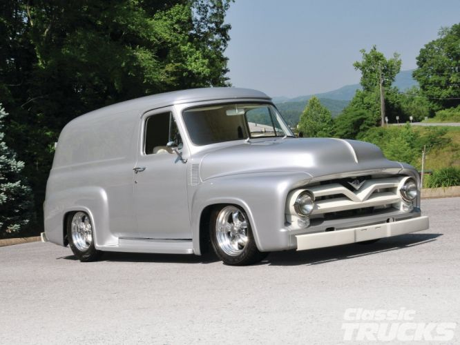 ford panel truck fr100 stationwagon van retro hot rods rod retro classic d wallpaper