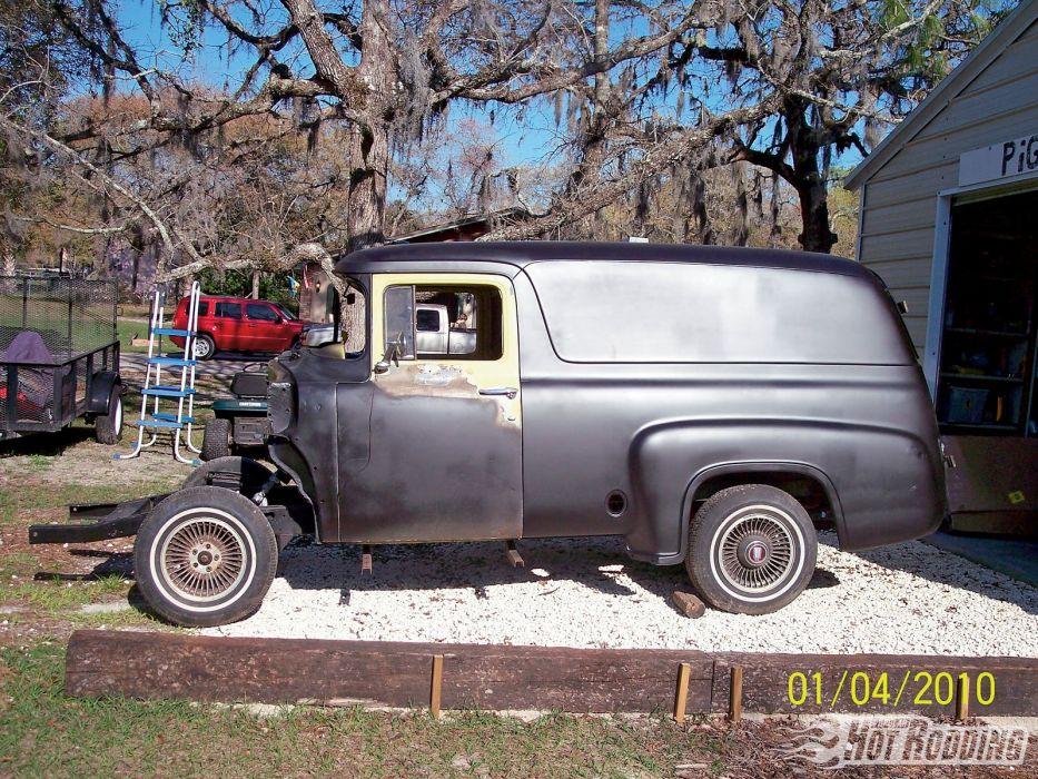 ford panel truck fr100 stationwagon van retro hot rods rod retro classic   t wallpaper