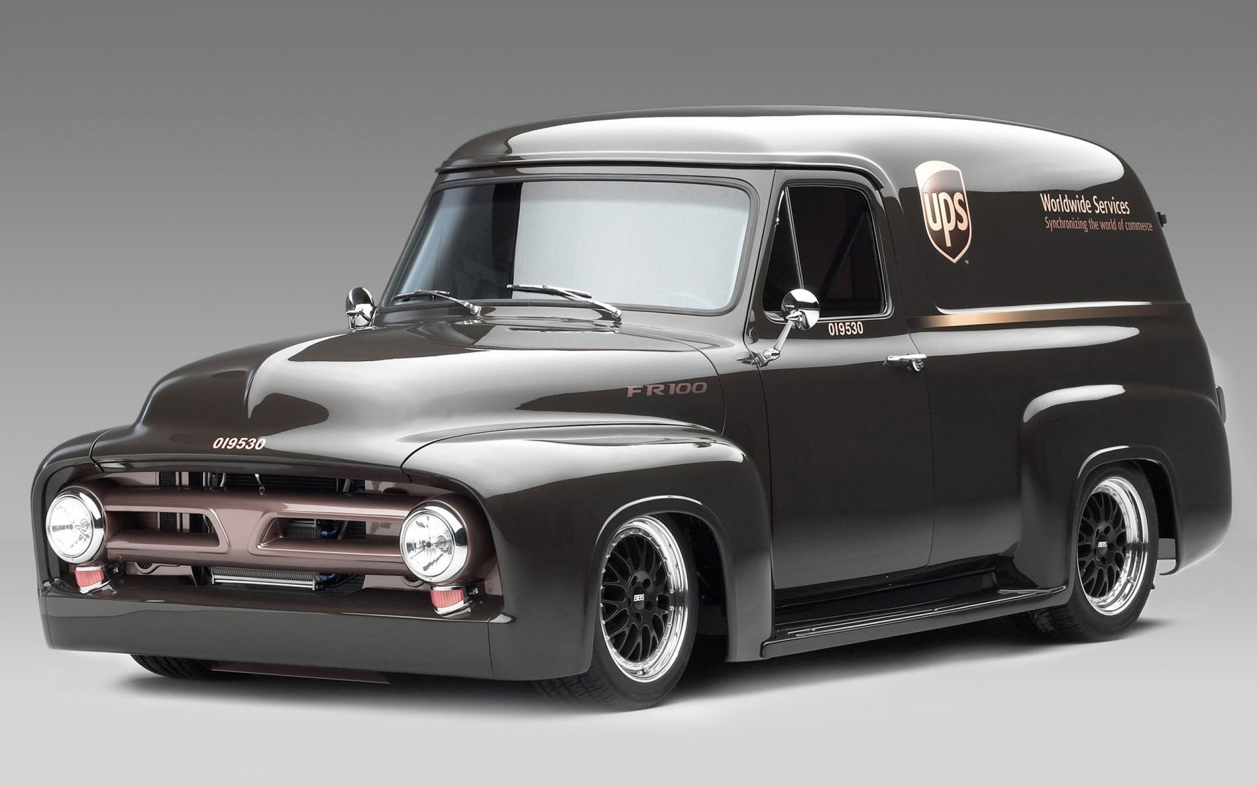 Ford panel truck fr100 stationwagon van retro hot rods rod retro classic h wallpaper 2560x1600