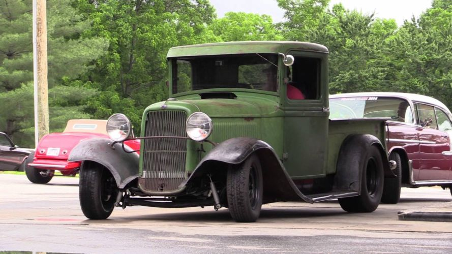 hot rod rods pickup truck retro e wallpaper