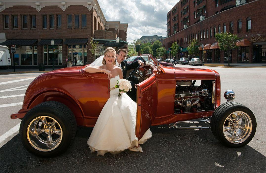 hot rod rods retro wedding bride    d wallpaper