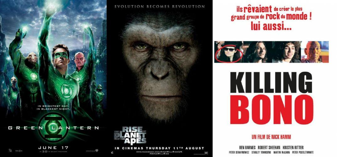 KILLING BONO comedy music film humor funny u-2 hard rock planet apes green arrow poster wallpaper