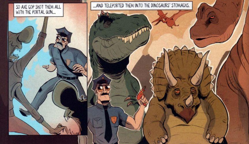 AXE-COP animation action comedy axe cop comics cartoon (1) wallpaper