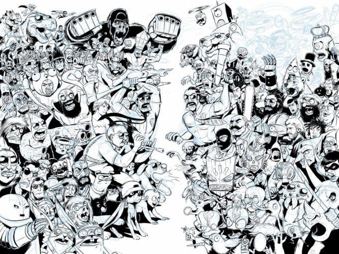 AXE-COP animation action comedy axe cop comics cartoon (5) wallpaper