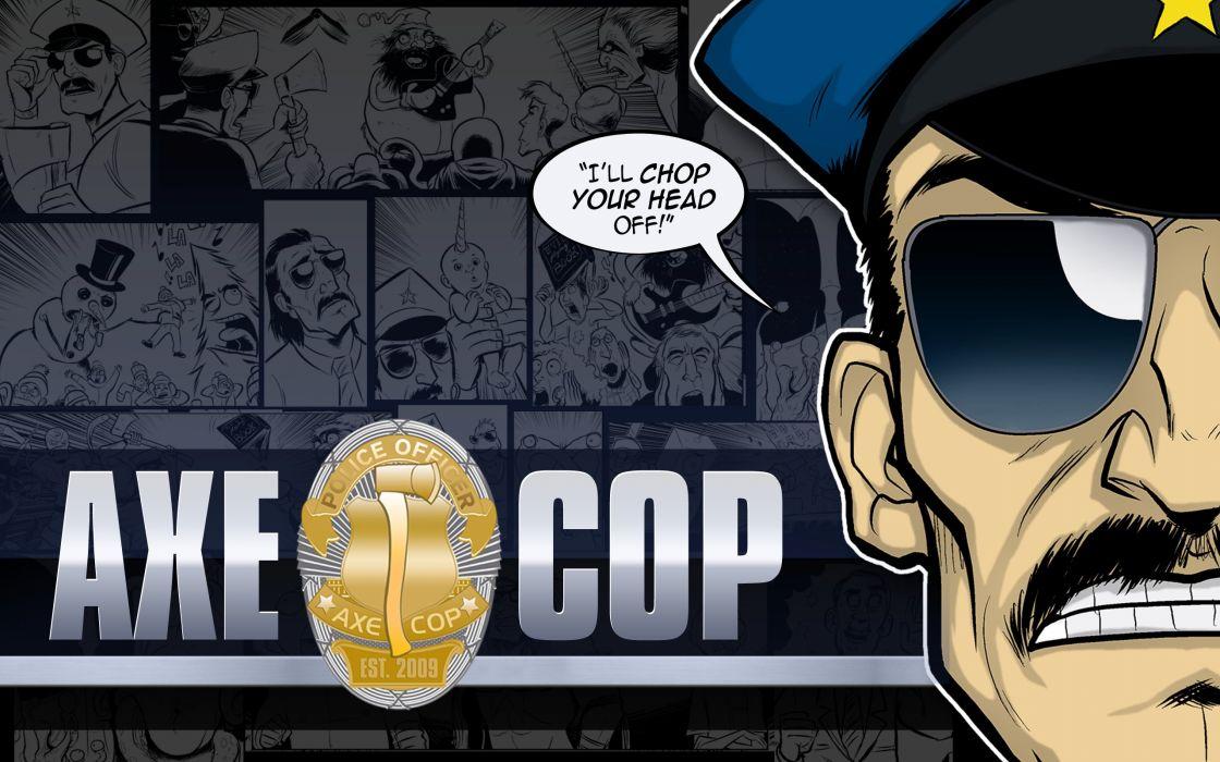 AXE-COP animation action comedy axe cop comics cartoon (8) wallpaper
