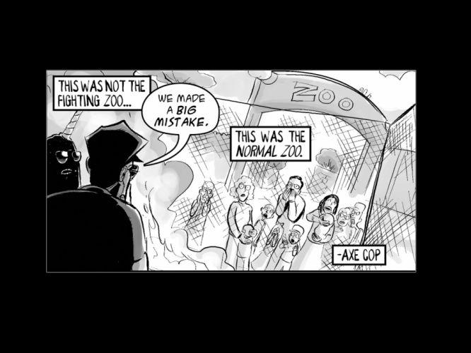 AXE-COP animation action comedy axe cop comics cartoon (11) wallpaper