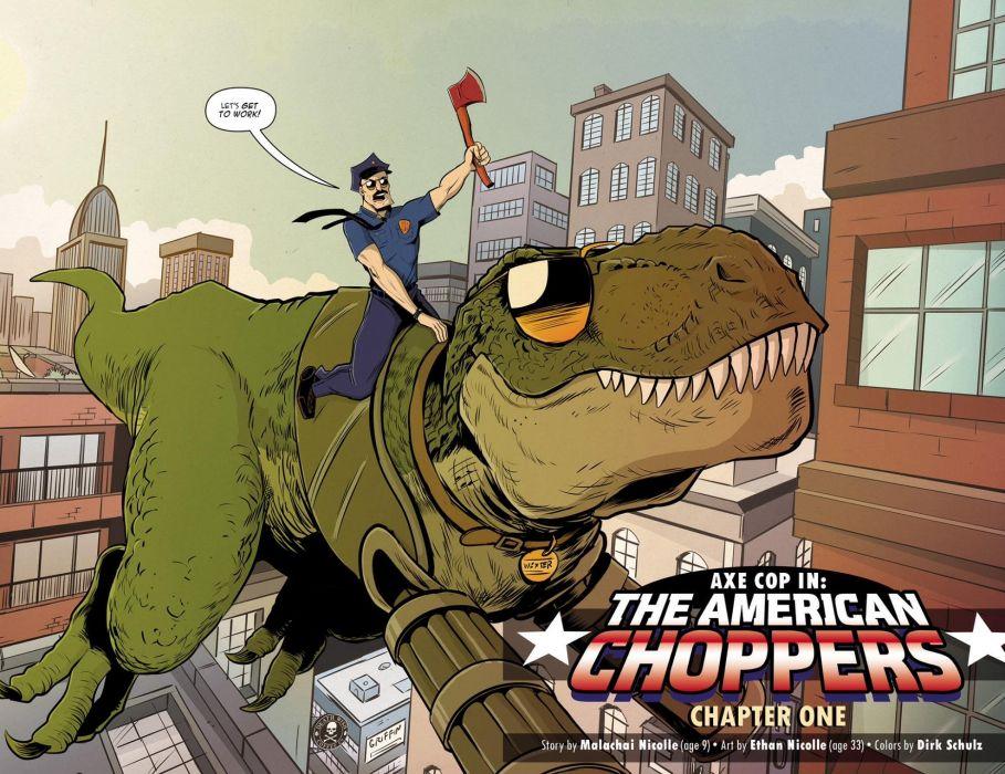 AXE-COP animation action comedy axe cop comics cartoon (15) wallpaper