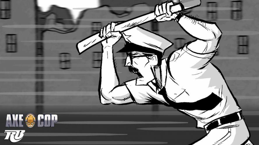 AXE-COP animation action comedy axe cop comics cartoon (25) wallpaper