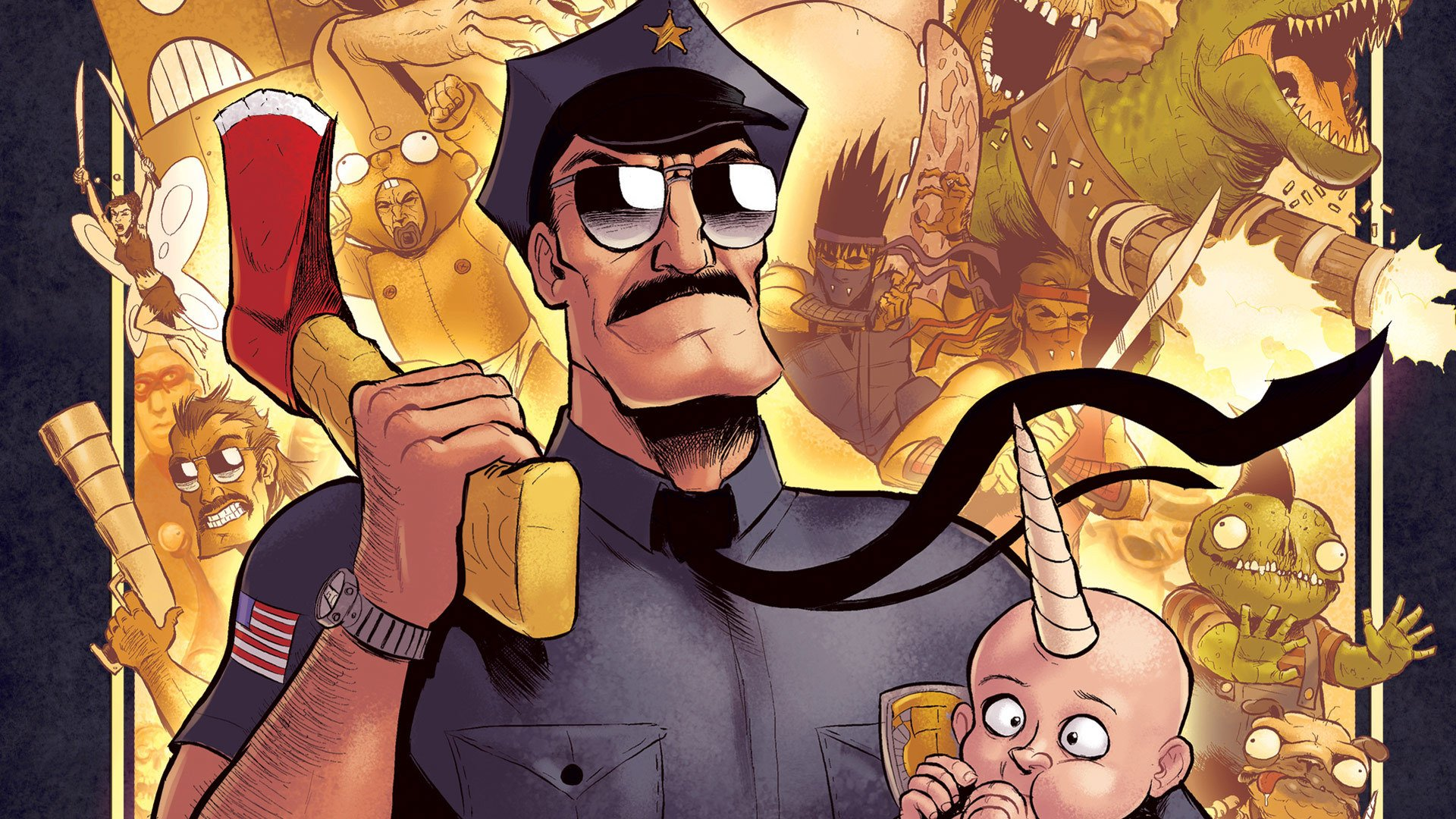 AXE COP Animation Action Comedy Axe Cop Comics Cartoon 28 Wallpaper