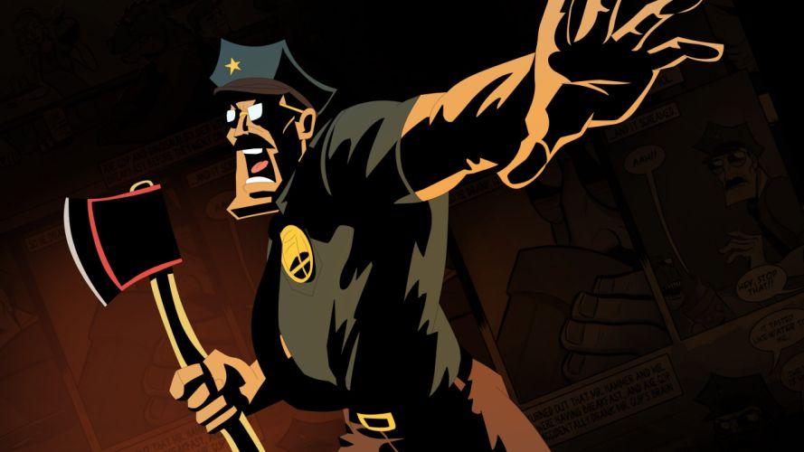 AXE-COP animation action comedy axe cop comics cartoon (34) wallpaper