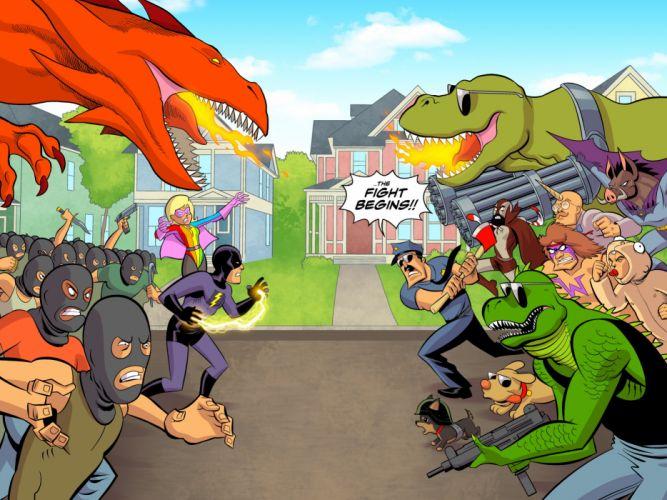 AXE-COP animation action comedy axe cop comics cartoon (35) wallpaper