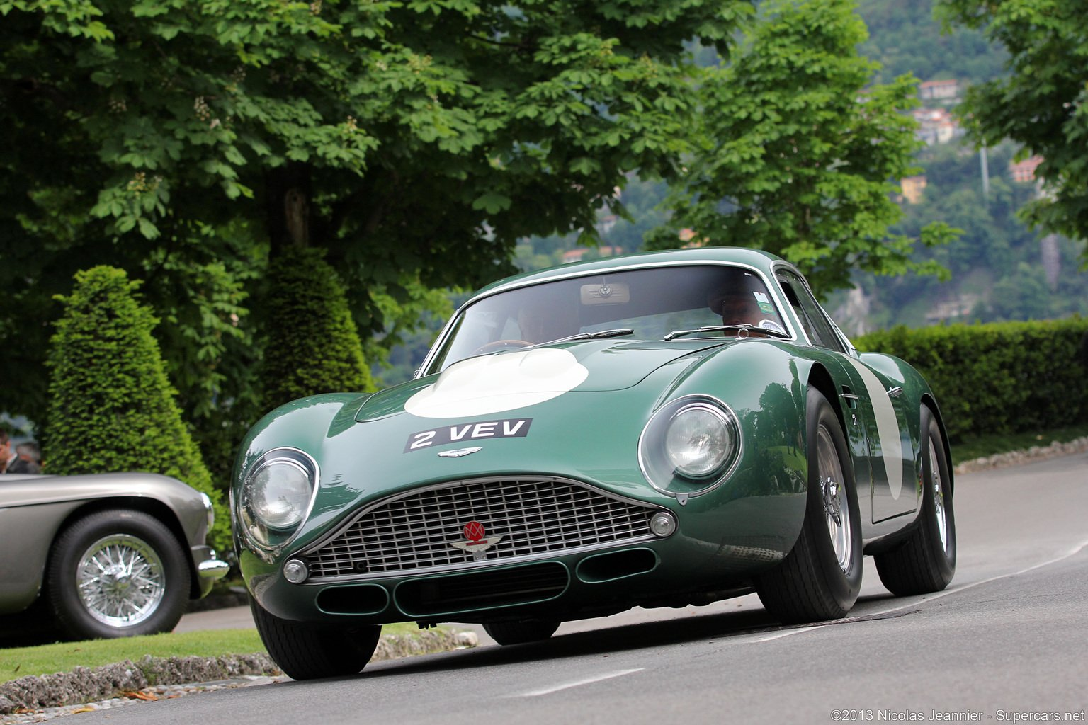race car classic vehicle racing aston-martin green england