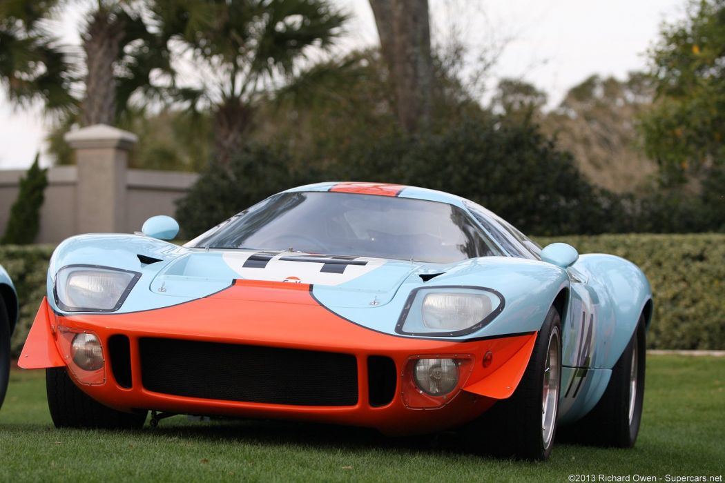 Race Car Classic Vehicle Racing Le-Mans LMP1 ford GT-40 Gulf wallpaper