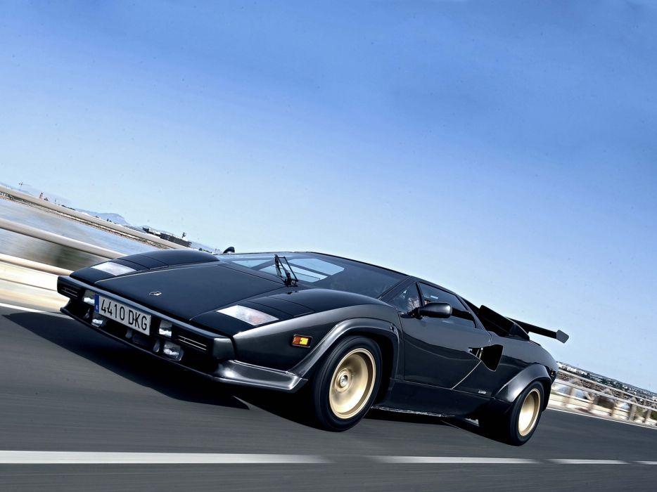 1985 Lamborghini Countach 5000 Quattrovalvole Supercar Italy Sportcar Vehicle Car 4000x3000 (2) wallpaper