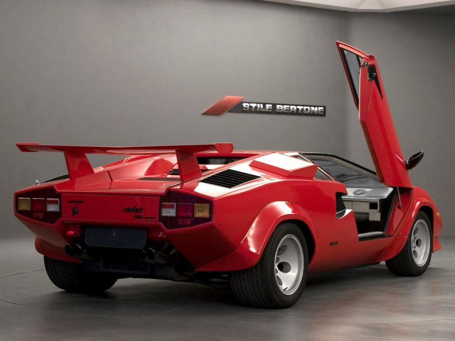 1985 Lamborghini Countach 5000 Quattrovalvole Supercar Italy Sportcar Vehicle Car 4000x3000 (7) wallpaper