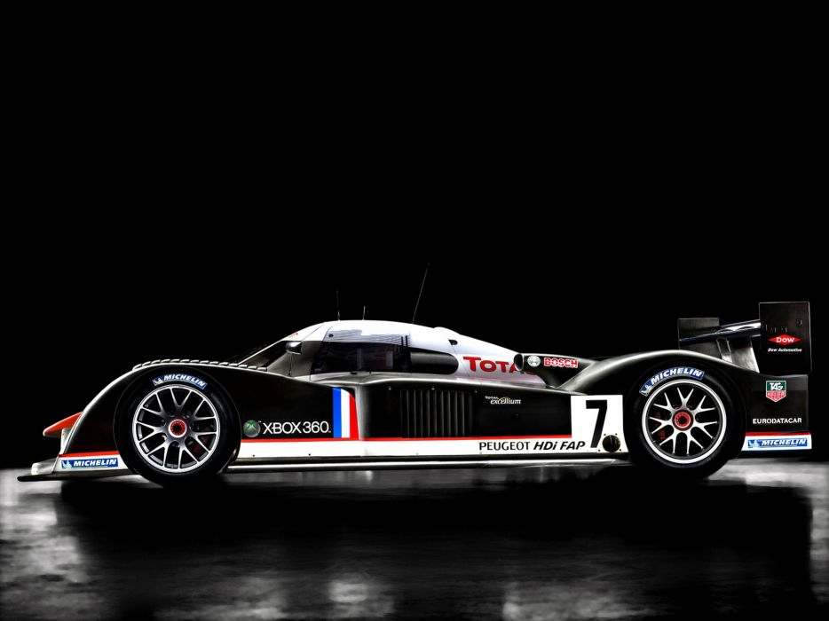 2007 Peugeot 908 HDI FAP Race Car Classic Vehicle Racing France Le-Mans LMP1 4000x3000 (2) wallpaper