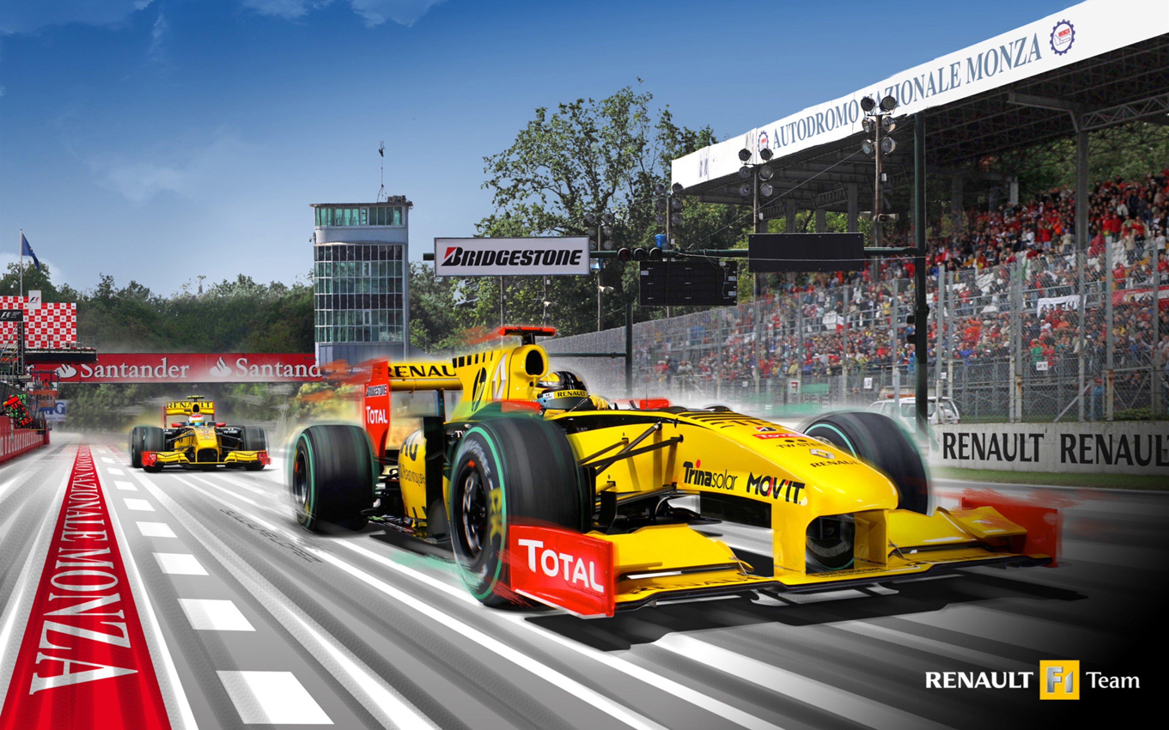 Small Car 2010 Formula 1 Renault R30 Race Car Racing Vehicle